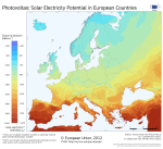 Photovoltaic solar electricity potential in Europe