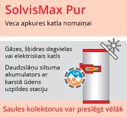 Apkures sistēma ar iebūvētu gāzes katlu SolvisMax Pur